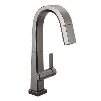 Pivotal Single-Handle Bar Faucet with Touch2O Technology and MagnaTite Docking in Black Stainless