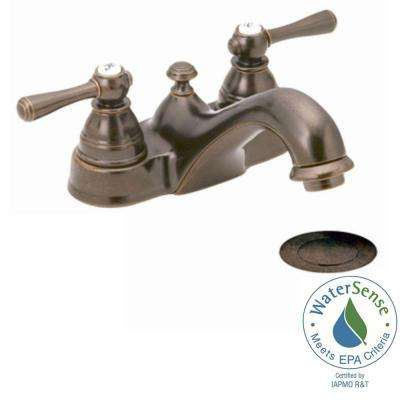 Kingsley 4 in. Centerset 2-Handle Bathroom Faucet in Oil Rubbed Bronze