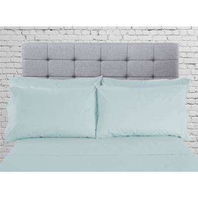 Hotel Collection 1800 6-Piece Spa Blue Cotton/Polyester Queen Sheet Set