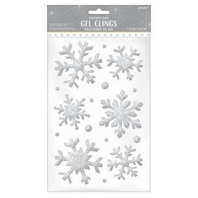 3 in. Snowflake Gel Clings (7-Pack)
