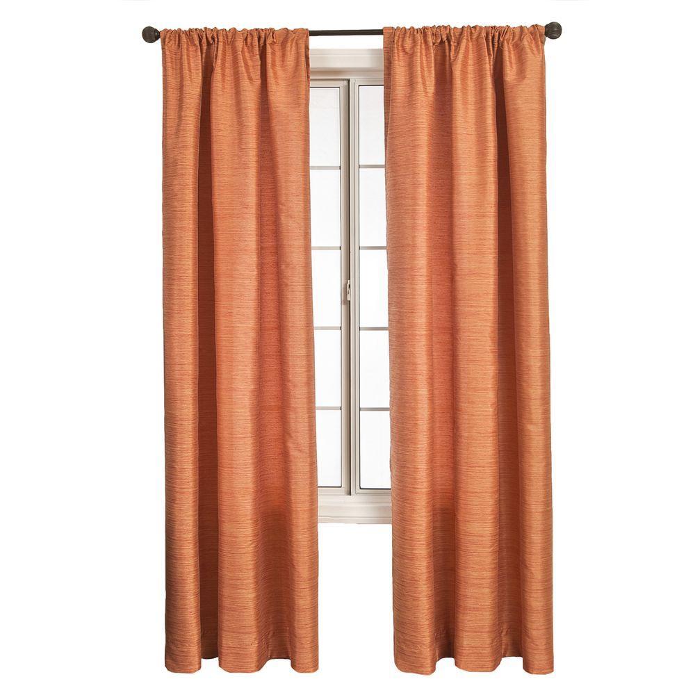 Home Decorators Collection Semi-Opaque Sangria Borgata Rod Pocket Curtain - 54 in.W x 96 in. L