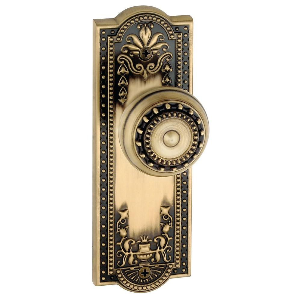 Grandeur Parthenon Vintage Brass Plate with Privacy Knob