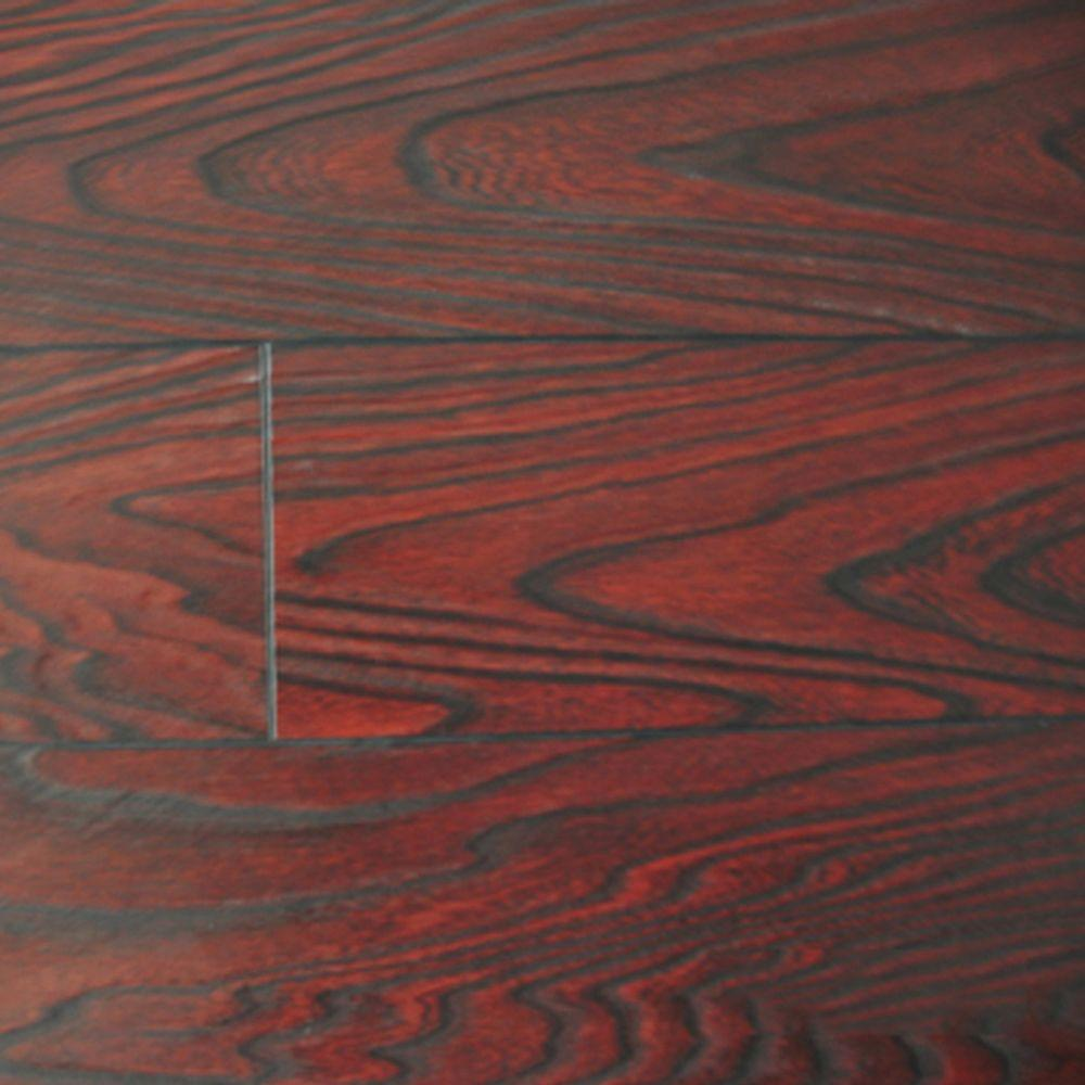 PID Floors Mahogany Color Laminate Flooring - 6-1/2 in. Wide x 3 in. Length Take Home Sample