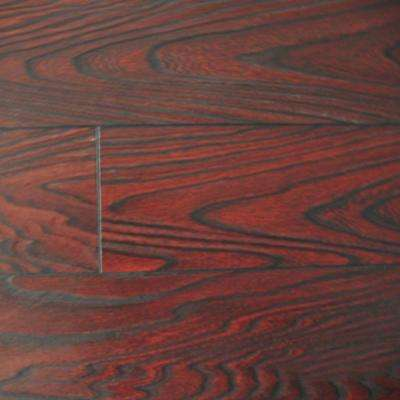 Mahogany Color Laminate Flooring - 6-1/2 in. Wide x 3 in. Length Take Home Sample