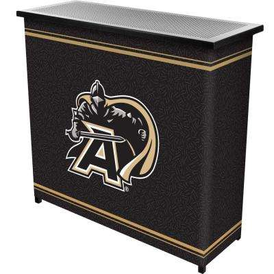 Army Black Knights 2-Shelf Black Bar with Case