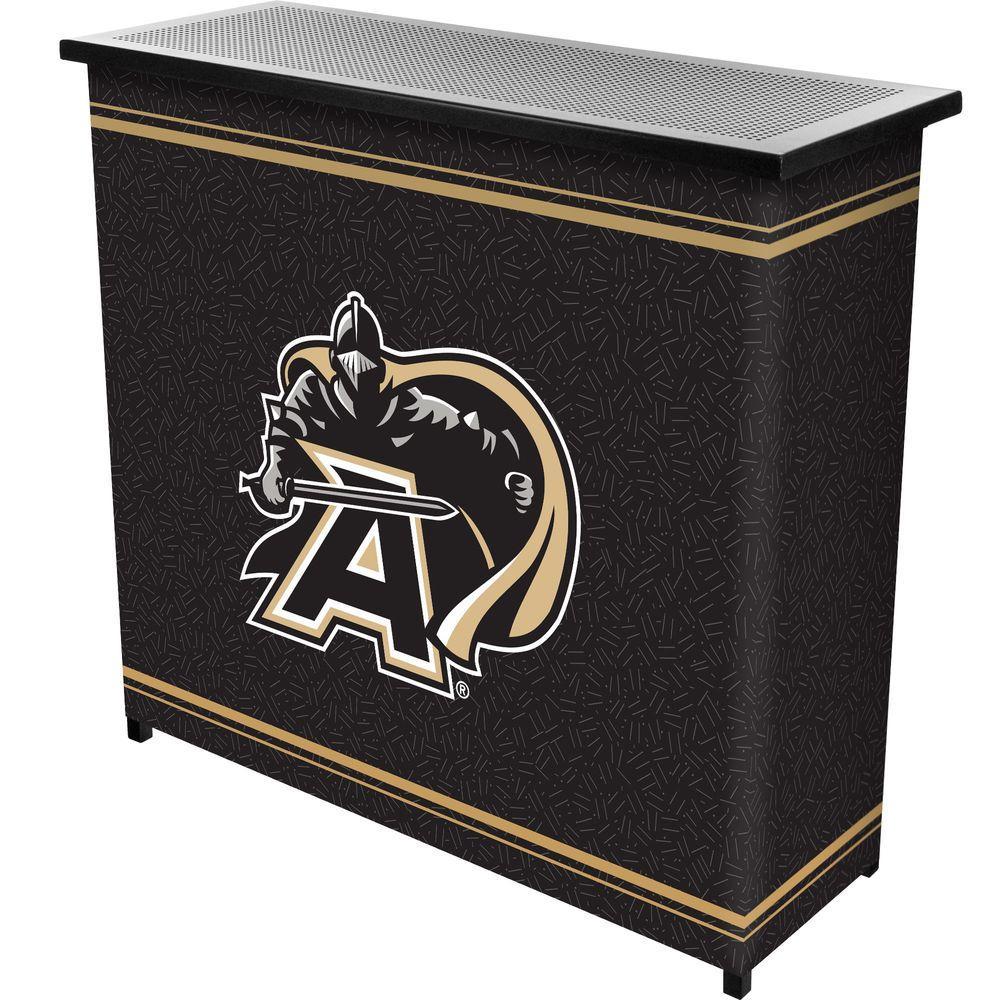 Army Black Knights 2-Shelf Black Bar with Case