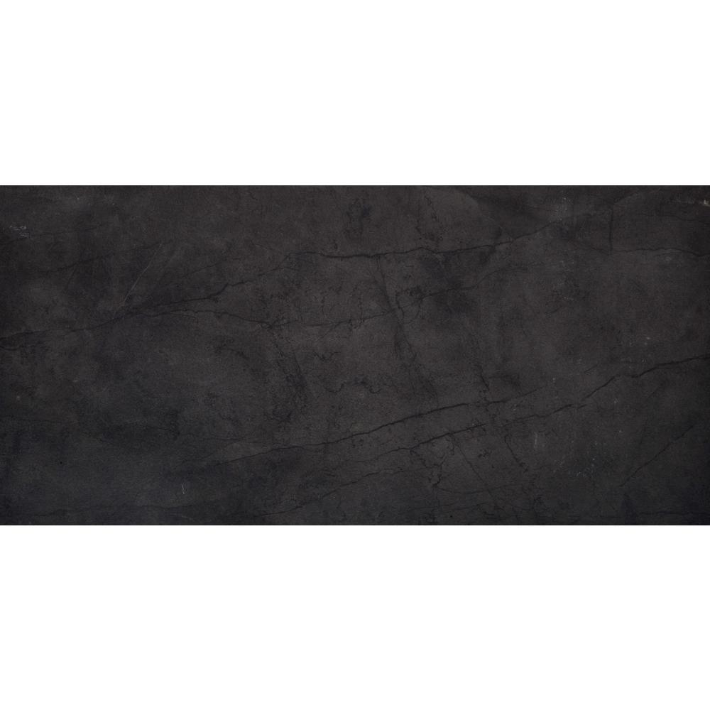 Citadel Black Matte 23.62 in. x 35.43 in. Porcelain Floor and Wall Tile (11.62 sq. ft. / case)