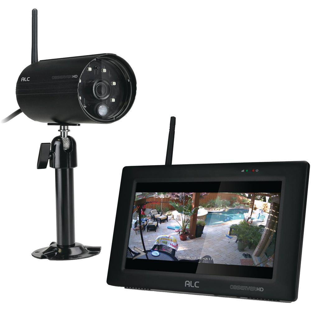 ALC Observer 4-Channel 1080p Wired HD Security Camera System with 7 in. Touchscreen Monitor and 1 Wi-Fi Camera