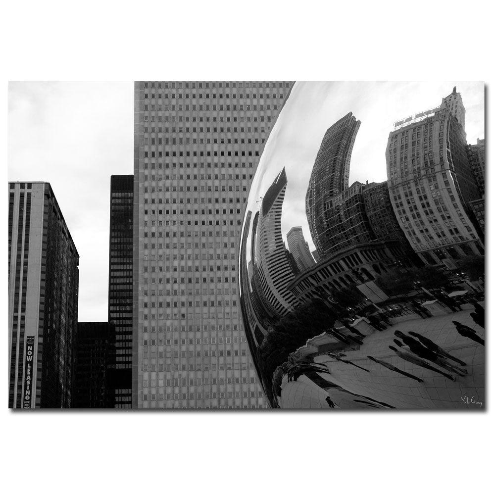 35 in. x 47 in. Elastic Skyline Canvas Art