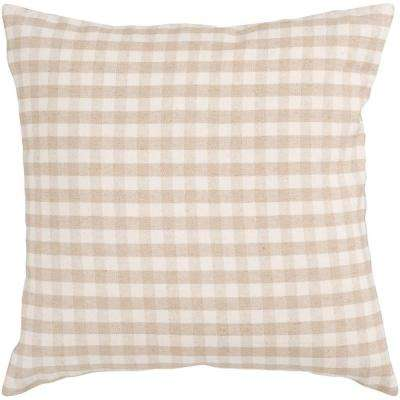 Checkered 18 in. x 18 in. Decorative Down Pillow