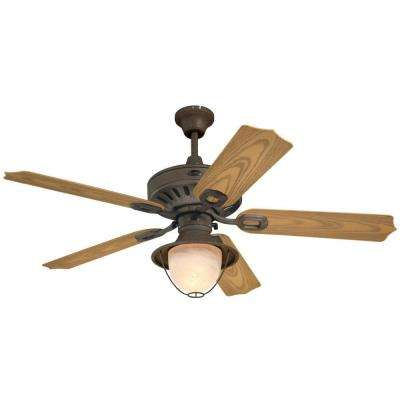 Lafayette LED 52 in. LED Indoor/Outdoor Weathered Iron Ceiling Fan