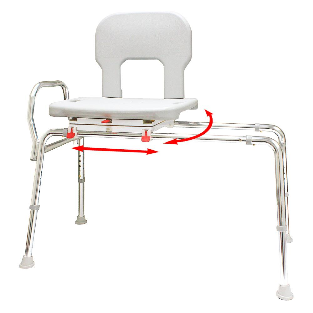 Bariatric Swivel Sliding Bath Transfer Bench - Regular (Base Length ...