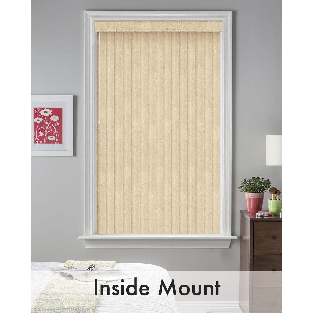 Bali Cut-to-Size Maui Tan 3.5 in. PVC Louver Set - 61 in. L (9-Pack)