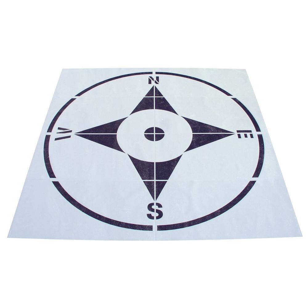 8 ft. Compass Stencil