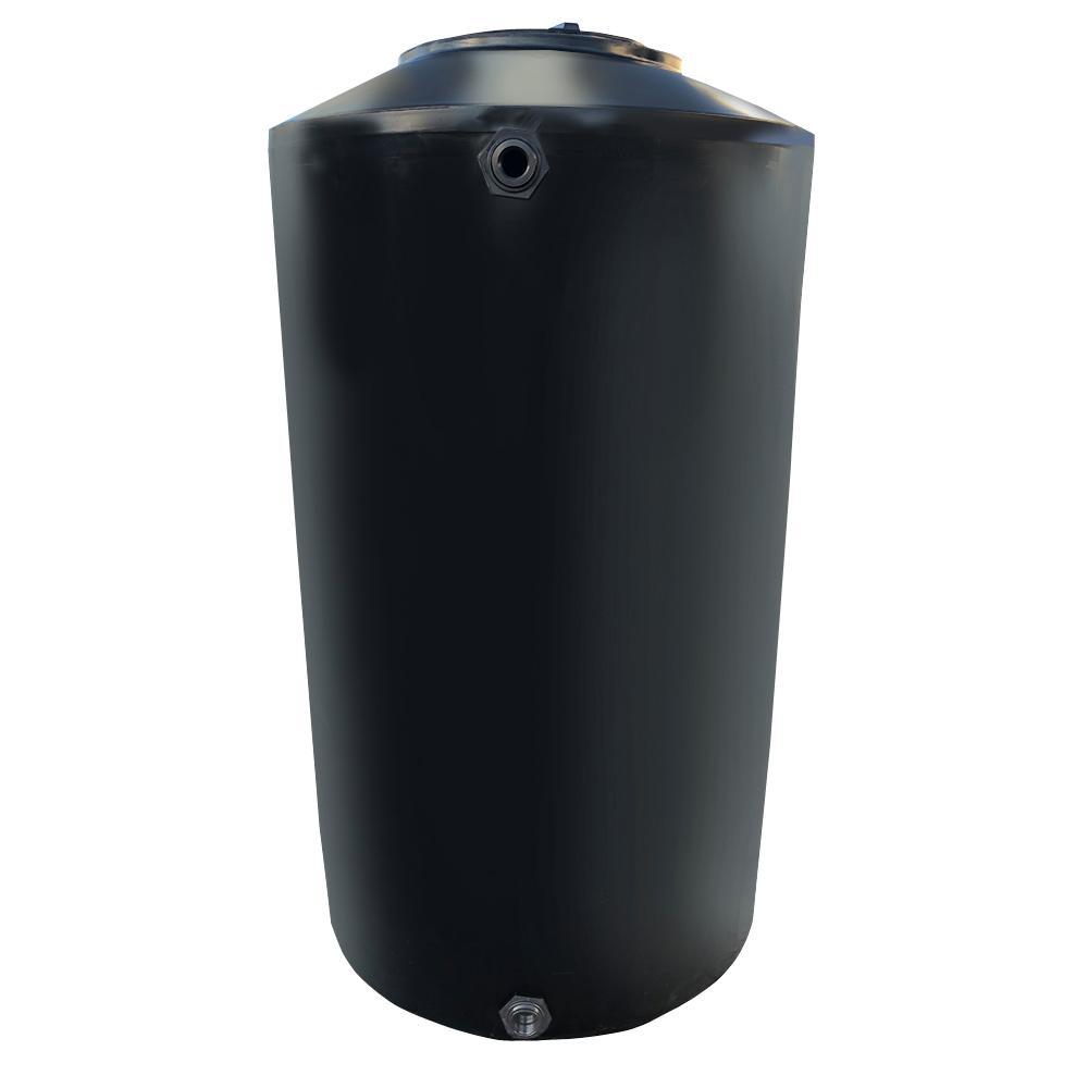Chem-Tainer Industries 300 Gal. Black Vertical Water Storage Tank
