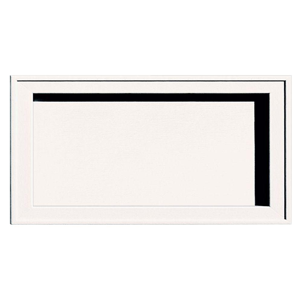 7.5 in. x 14.25 in. # 117 Bright White Recessed Jumbo