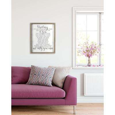 "18.5 in. W x 22.5 in. H ""Darling As Only You Can"" by KDM Printed Framed Wall Art"