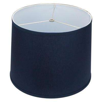 16 in. x 12 in. Linen Navy Blue Empire Lamp Shade