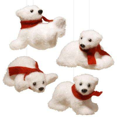4 in. Assorted White Bear (Set of 4)