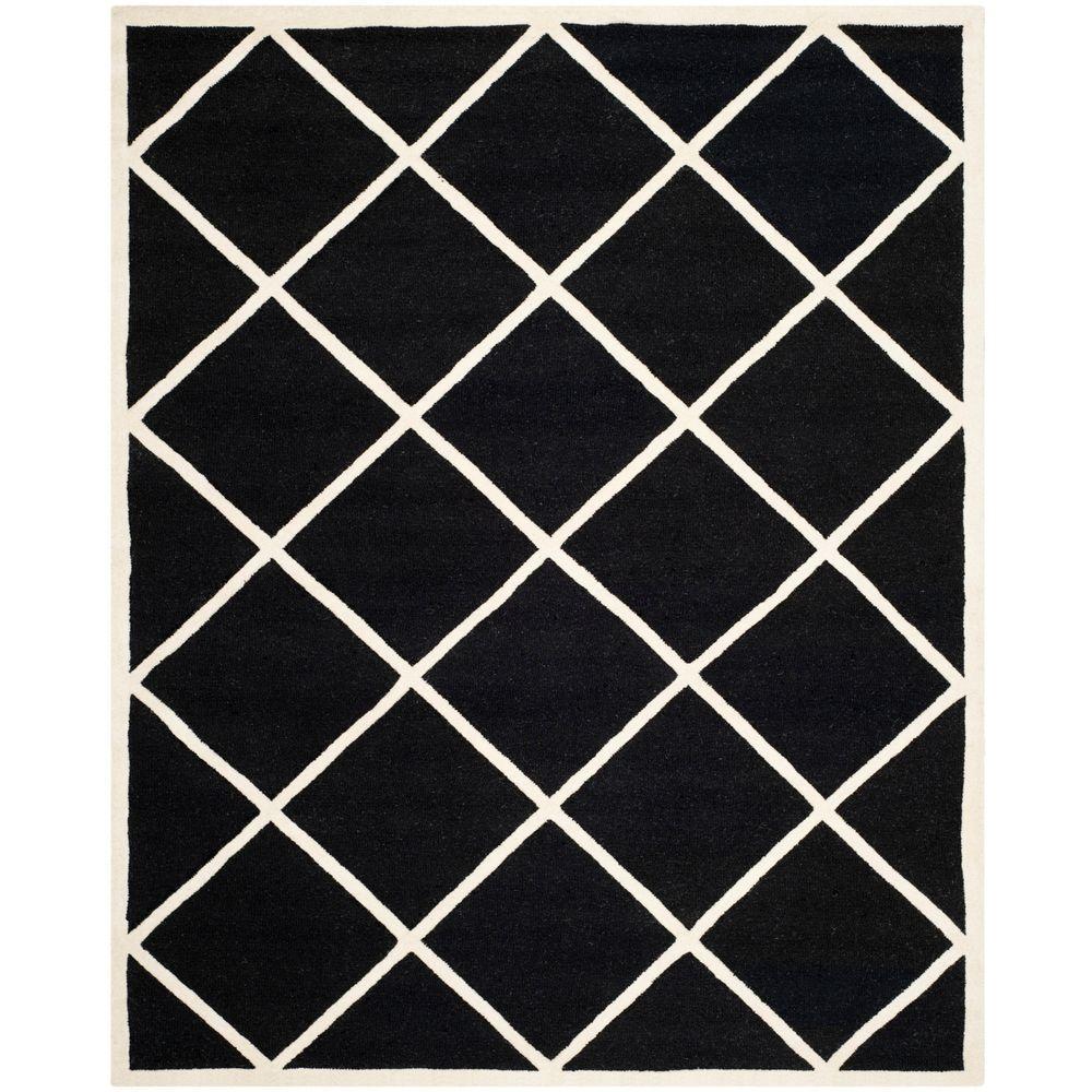 Cambridge Black/Ivory 8 ft. x 10 ft. Area Rug