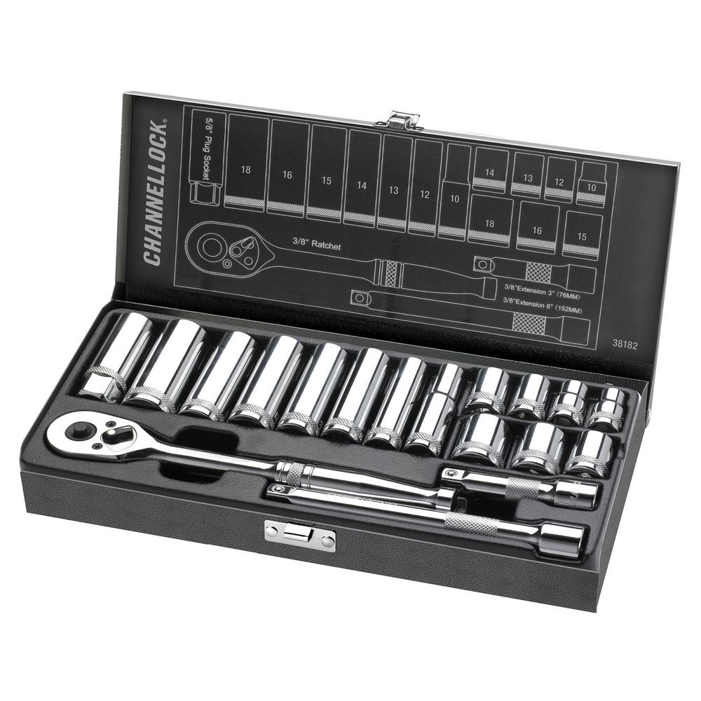 17-Piece Channellock Products Channellock Standard 12-Point Combination Wrench Set