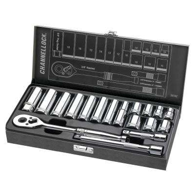 3/8 in. Drive Metric Socket Set (18-Piece)