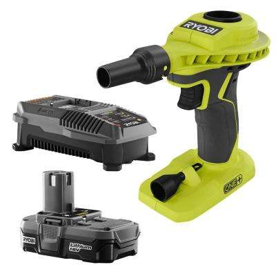 18-Volt ONE+ Lithium-Ion Cordless High Volume Power Inflator Kit with 1.3 Ah Battery and 18-Volt Charger