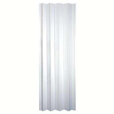 36 in. x 80 in. Contempra Vinyl Sand-White Accordion Door