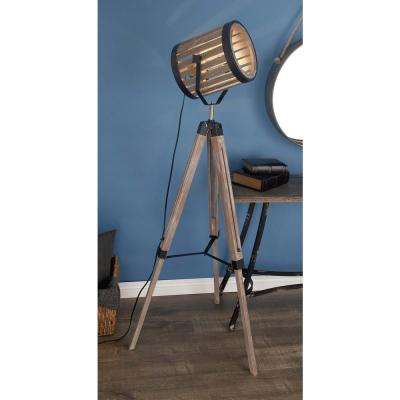 62 in. Rustic Barrel Floor Spotlight