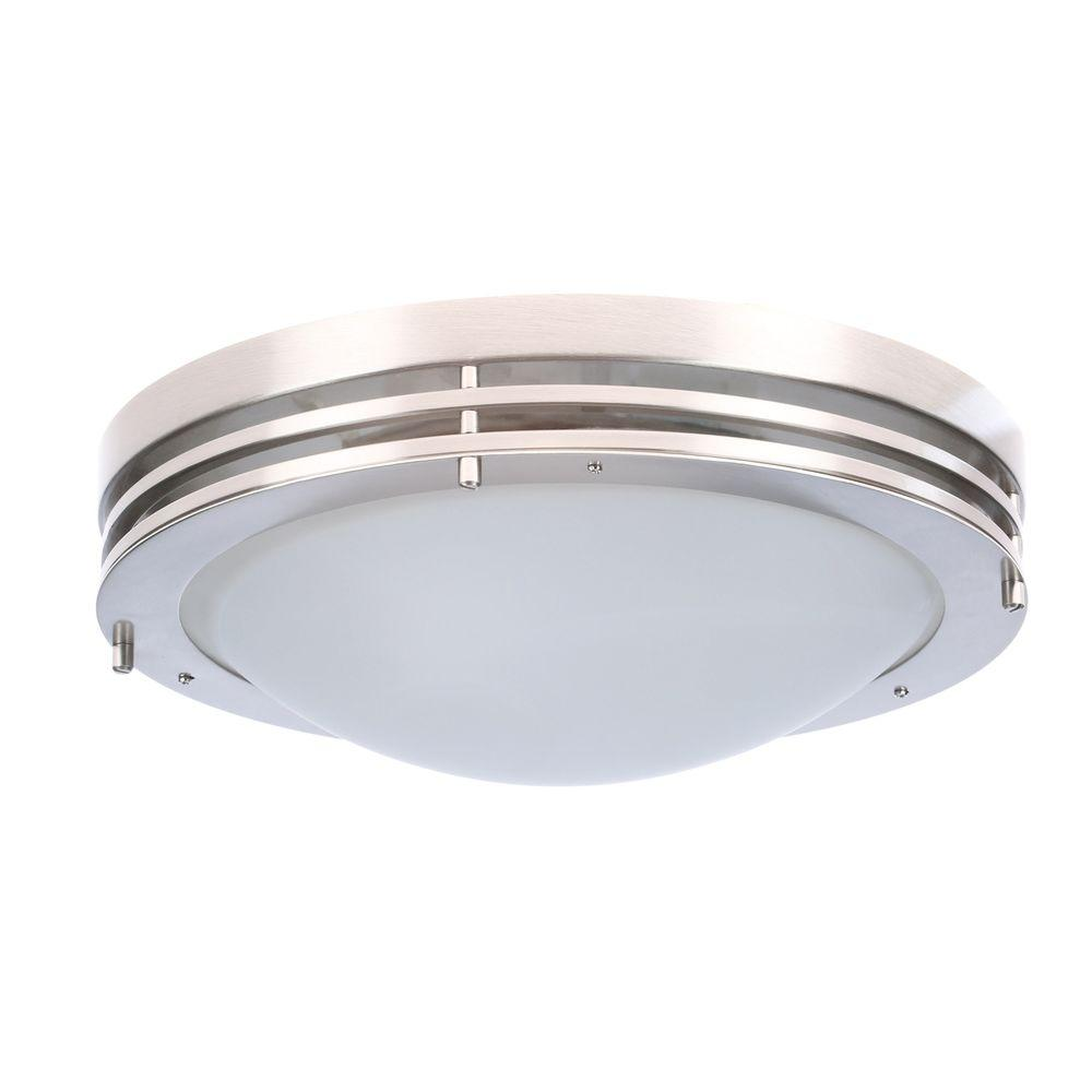 Design house 2 light satin nickel ceiling light with alabaster design house 2 light satin nickel ceiling light with alabaster glass aloadofball Choice Image