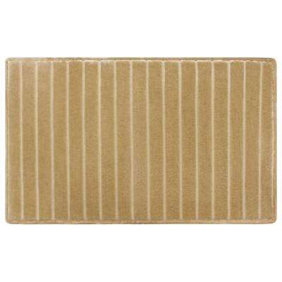 17 in. x 24 in. Velvet Charcoal-Infused Memory Foam Bath Mat in Linen