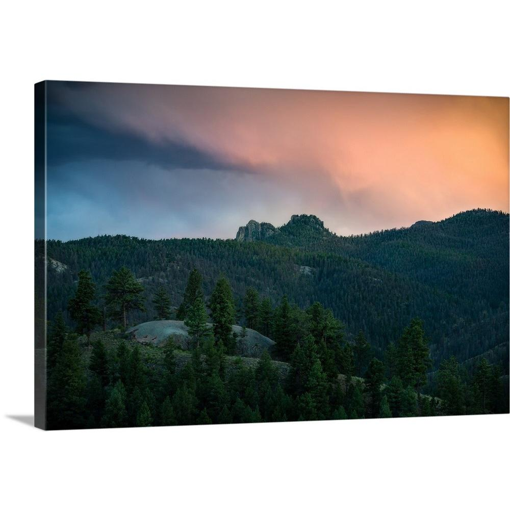 A Soft Sunset Over Colorado Pine Country Co By Joseph Roybal Canvas Wall Art 2512328 24 24x16 The Home Depot