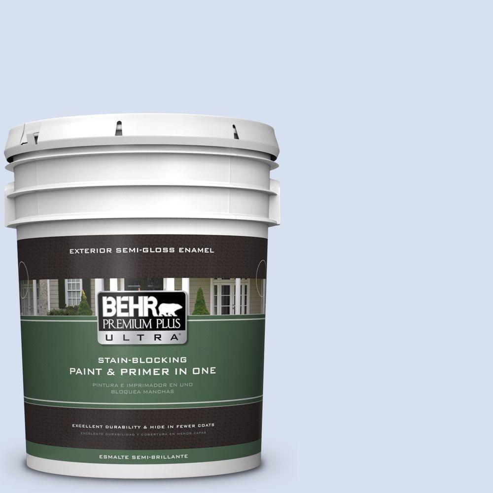5-gal. #580A-2 Icy Bay Semi-Gloss Enamel Exterior Paint