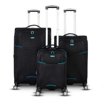 Manchester Collection Expandable 3-Piece Luggage Set