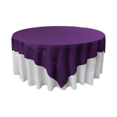 90 in. x 90 in. Purple Polyester Poplin Square Tablecloth