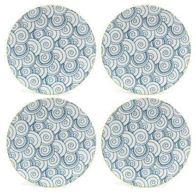 Thea Dinner Plates Blue (Set of 4)