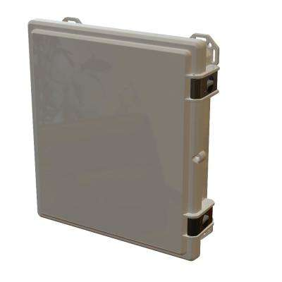 17.8 in. L x 16.3 in. W x 4 in. H Polycarbonate Grey Hinged Latch Top Cabinet Enclosure with Gray Bottom
