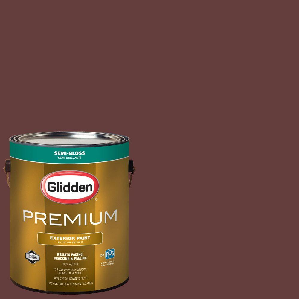 Hdgr52d old mahogany semi gloss latex exterior paint