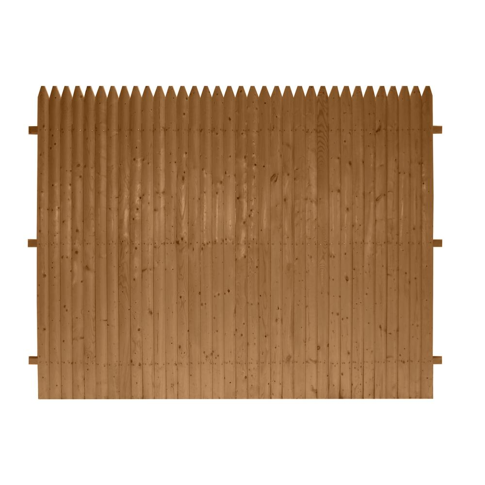 6 ft  x 8 ft  SPF Brown DWLD Pro-Panel Pressure Treated Fence