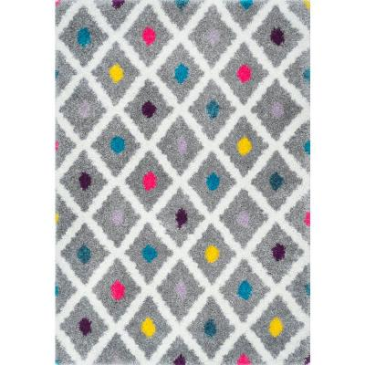 Nuloom Sharee Trellis Shag Multi 8 Ft X 10 Ft Area Rug Ozxl11a 8010 The Home Depot
