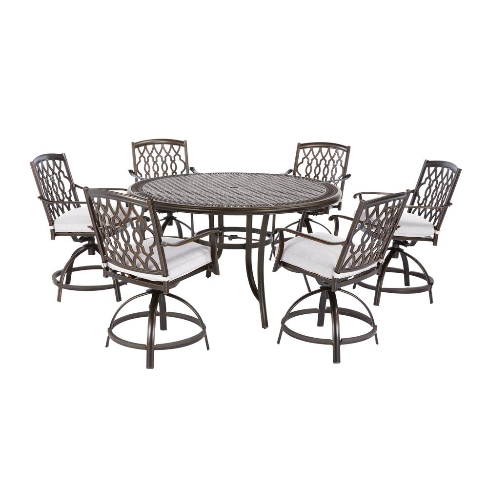 Attrayant This Review Is From:Ridge Falls 7 Piece Aluminum Outdoor High Dining Set  With Cushions Included, Choose Your Own Color