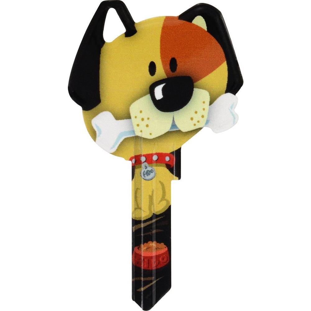 #66 Blank Dog Shaped House Key