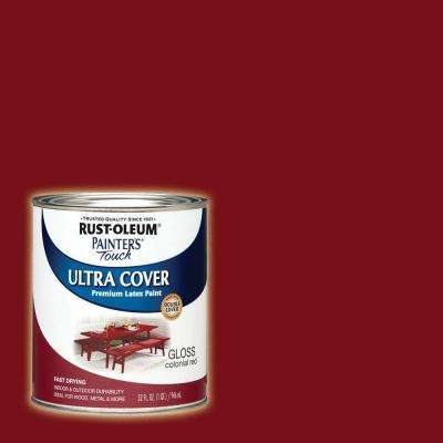 32 oz. Ultra Cover Gloss Colonial Red General Purpose Paint