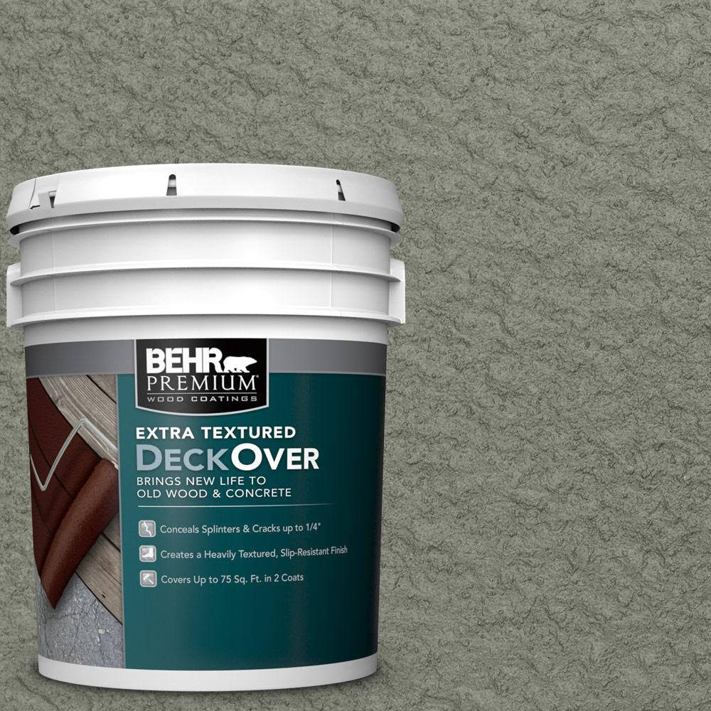 5 gal. #SC-137 Drift Gray Extra Textured Solid Color Exterior Wood