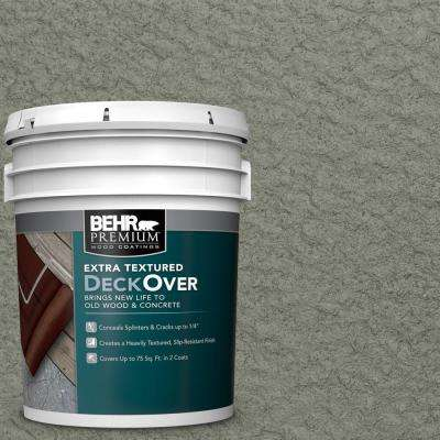 5 gal. #SC-137 Drift Gray Extra Textured Solid Color Exterior Wood and Concrete Coating