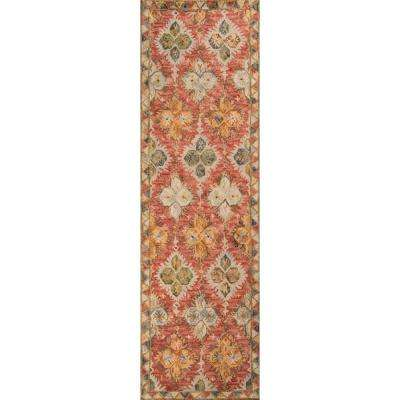 Tangier Red 2 ft. x 8 ft. Runner Rug