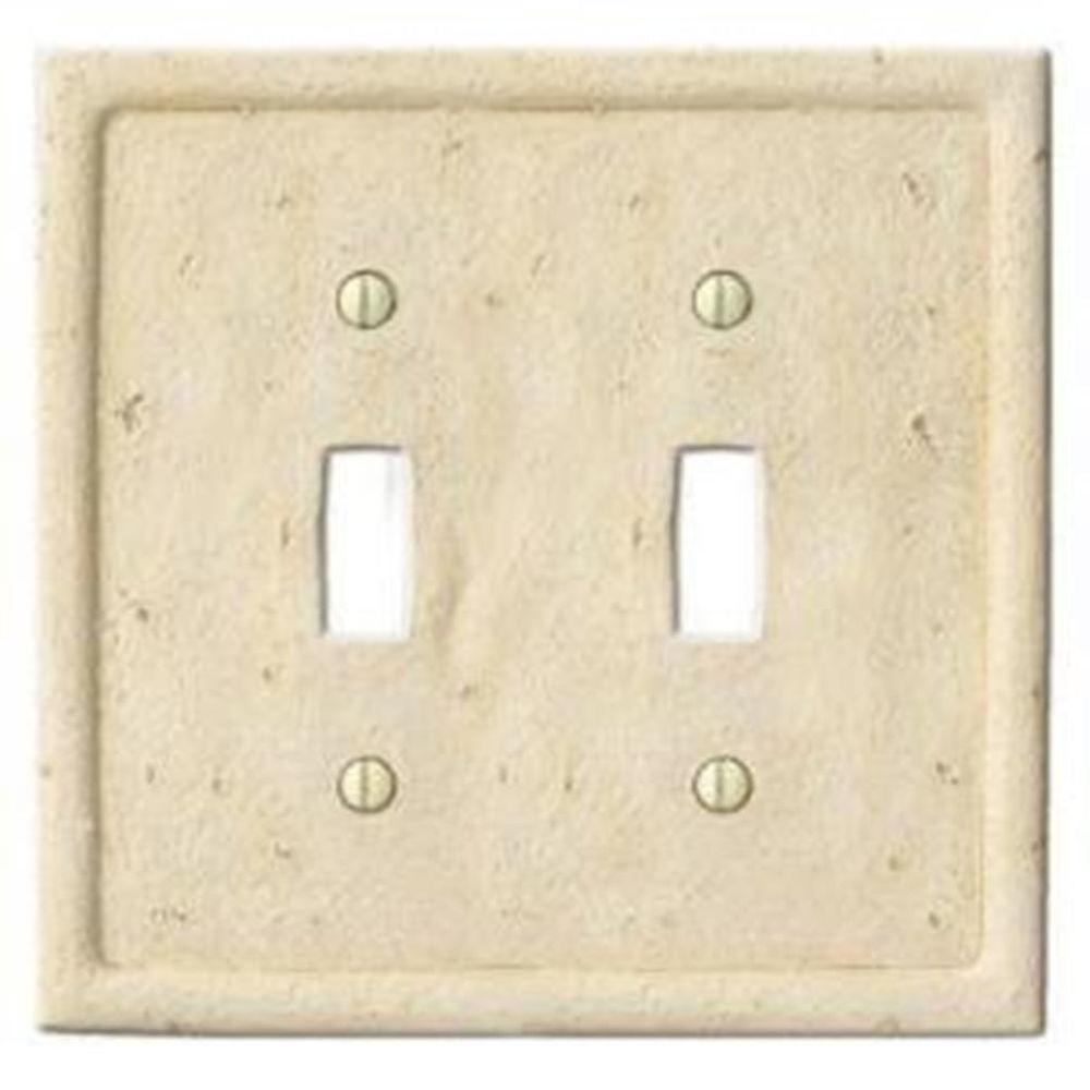 Creative Accents Stone 2 Toggle Wall Plate - Ivory