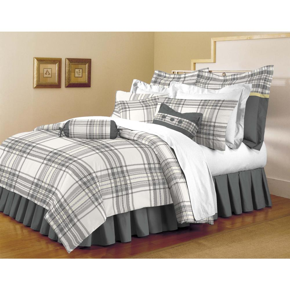 Classic Trends White-Light Gray 5-Piece King Comforter Set