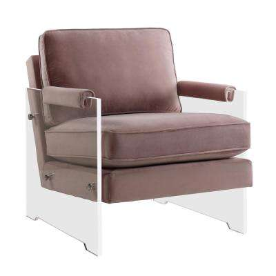 Serena Blush and Velvet Lucite Chair
