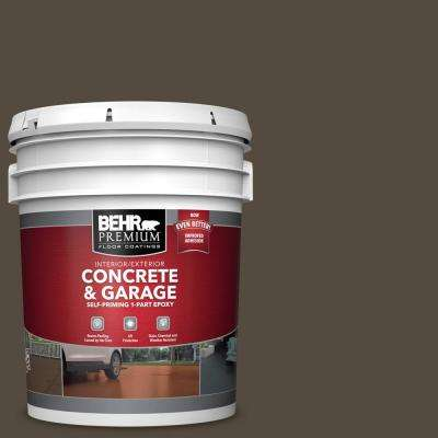 5 gal. #SC-103 Coffee Self-Priming 1-Part Epoxy Concrete and Garage Interior/Exterior Floor Paint